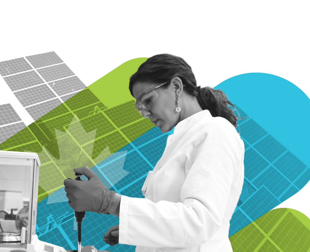 Where Cleantech Comes Together Banner- Woman in Lab