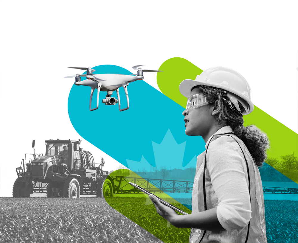 Where Cleantech Comes Together Banner- Woman w Drone