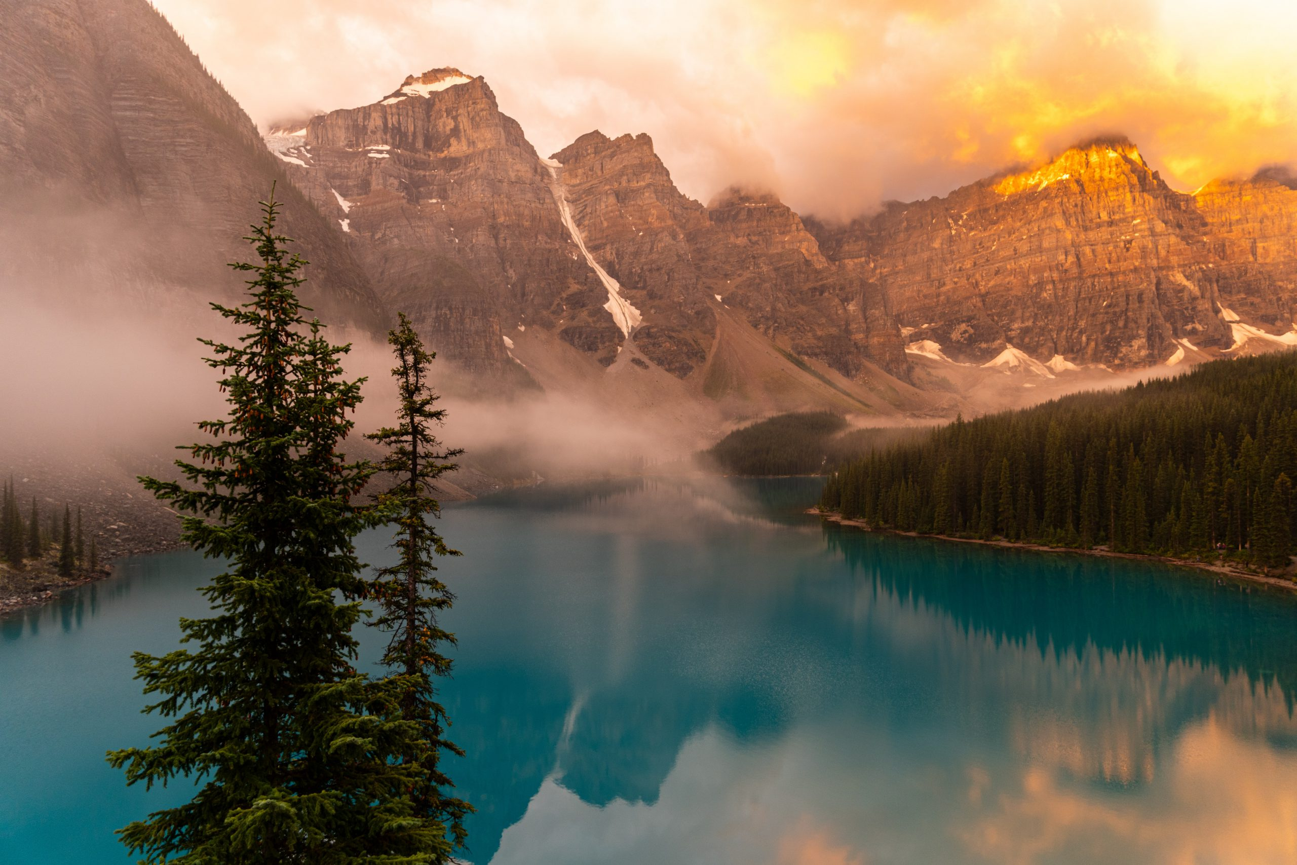 Alberta Canada, lake, mountains and forest
